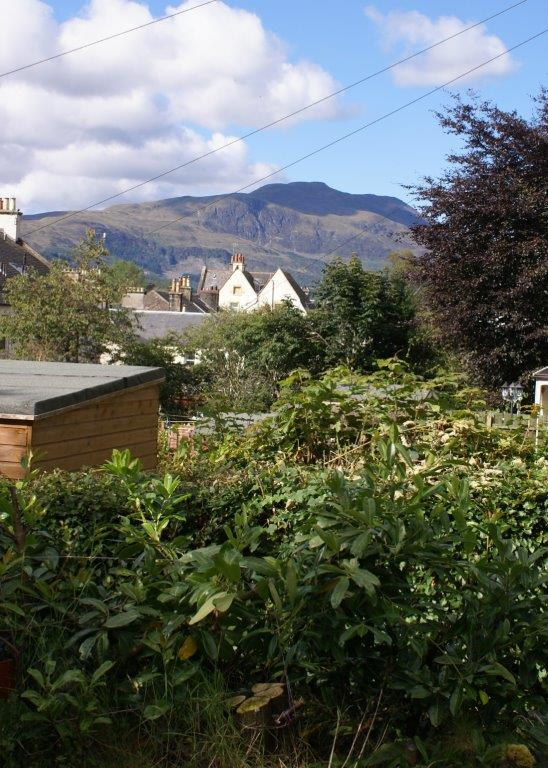 View to Ben Ledi from the garden